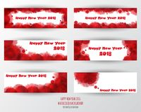 Greeting card design template with Modern Text for 2018 New  Royalty Free Stock Image