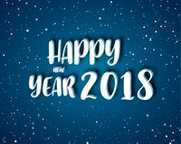 Greeting card design template with Modern Text for 2018 New  Stock Image