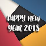 Greeting card design template with Modern Text for 2018 New  Stock Photography