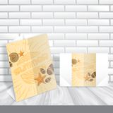 Greeting Card Design, Template Stock Image
