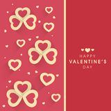 Greeting card design for Valentines Day celebration. Stock Images