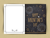Greeting card design for Valentine's Day celebration. Stock Photos
