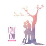 Greeting card design for Valentine's Day celebration. Stock Photo