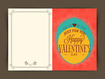 Greeting card design for Valentine's Day celebration. Royalty Free Stock Photography