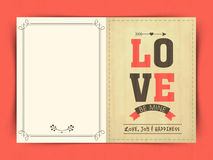 Greeting card design for Valentine's Day celebration. Stock Photography