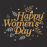 Greeting card design for Women's Day celebration. Stock Photography