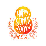 Greeting card design for Women's Day celebration. Royalty Free Stock Photography