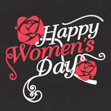 Greeting card design for Women's Day celebration. Stock Image