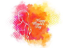 Greeting card design for Women's Day celebration. Royalty Free Stock Images