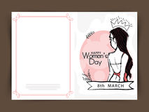 Greeting card design for Women's Day celebration. Royalty Free Stock Photos