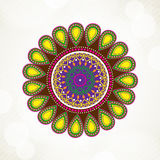 Greeting card for Diwali celebration Stock Image