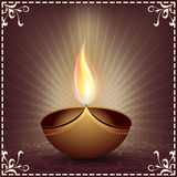 Greeting card for Diwali celebration Stock Images