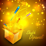 Greeting card for Diwali celebration Royalty Free Stock Photography