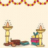 Greeting card for Diwali Celebration. Royalty Free Stock Image