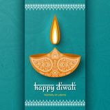 Greeting card for Diwali festival celebration in India. Vector illustration Stock Images