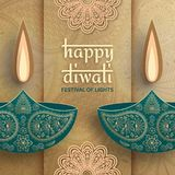 Greeting card for Diwali festival celebration in India royalty free stock photography
