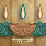 Greeting card for Diwali festival celebration in India stock photos