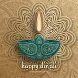 Greeting card for Diwali festival celebration in India stock image