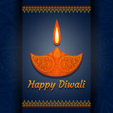 Greeting card for Diwali festival celebration in India. Vector illustration Royalty Free Stock Photo
