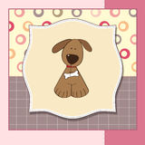Greeting card with dog Royalty Free Stock Image