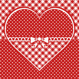 Greeting card with dotted heart Royalty Free Stock Image