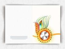 Greeting card dsign for Raksha Bandhan celebration. Stock Photos