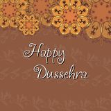 Greeting card for Dussehra celebration Royalty Free Stock Photography