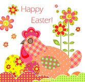 Greeting card with easter applique Royalty Free Stock Photos