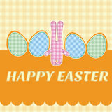 Greeting card. Easter bunny Stock Image