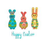 Greeting card with Easter bunny-3 Royalty Free Stock Photo
