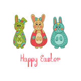 Greeting card with Easter bunny Royalty Free Stock Photography
