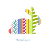 Greeting card with Easter Bunny Stock Images
