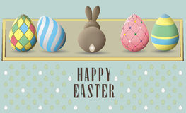 Greeting card for Easter Stock Images