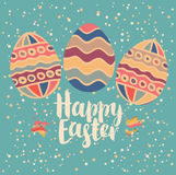 Greeting card with Easter eggs Stock Photography