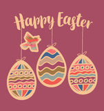 Greeting card with Easter eggs Stock Image