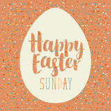 Greeting card with Easter eggs Royalty Free Stock Photos