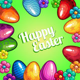 Greeting card with Easter Royalty Free Stock Photos
