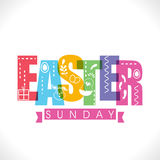 Greeting card for Easter Sunday celebration. Royalty Free Stock Images