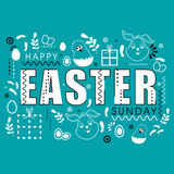Greeting card for Easter Sunday celebration. Royalty Free Stock Photos