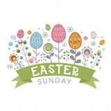 Greeting card for Easter Sunday celebration. Royalty Free Stock Photography