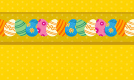 Greeting card of easter theme with egg Stock Photos