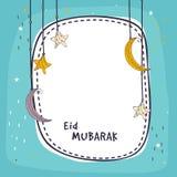 Greeting card for Eid festival celebration. Stock Images