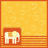 Greeting card  with elefant Stock Photo