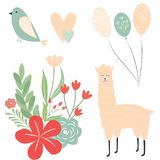 Greeting card elements. Vector elements for greeting card. royalty free illustration