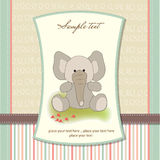 Greeting card with elephant Stock Images
