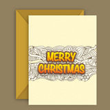 Greeting card with envelope for Christmas. Stock Photography