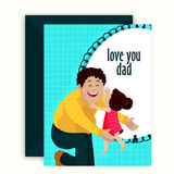 Greeting Card with Envelope for Father's Day. Stock Images