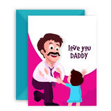 Greeting Card with Envelope for Father's Day. Royalty Free Stock Photo