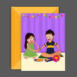 Greeting Card with Envelope for Raksha Bandhan. Royalty Free Stock Photography