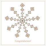 Greeting card with ethnic ornament pattern in different colors Stock Photography